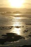 在Lombok海岛南部的日落  免版税库存照片