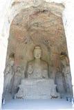 在Longmen Groottoes的中间Binyang洞 库存照片