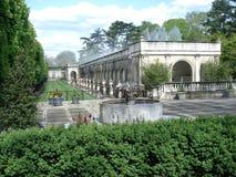 在Longwood庭院的主要喷泉 库存照片
