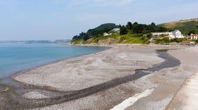 在Looe英国,联合王国附近的西顿海滩康沃尔郡 免版税库存照片