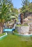 在Loutraki希腊的瀑布 库存照片