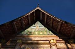 在Luang Prabang,老挝的Wat Aham 库存照片
