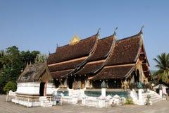 在Luang Prabang,老挝的Wat Xieng皮带 免版税库存照片