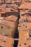 在Lucca,托斯卡纳的视图城镇 免版税库存照片