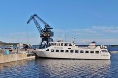 在LuleÃ¥南部的港的群岛小船  免版税图库摄影