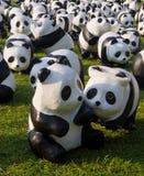 在Lumpini公园的熊猫flashmob 免版税库存图片