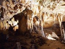 在Luray洞穴弗吉尼亚的岩层 库存照片