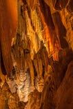 在Luray洞穴的布 免版税库存图片