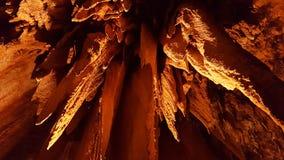 在Luray洞穴,弗吉尼亚的钟乳石 库存图片