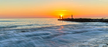 在Ly儿子海岛上的采撷日出 库存照片