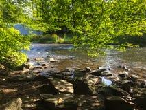 在MÃ ¼附近的一条河ngsten 免版税图库摄影