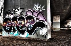 在M25下的街道画 库存图片