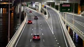 在M3和平的机动车路的轻的交通北部在布里斯班 影视素材