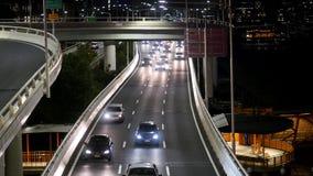在M3和平的机动车路的适度交通北部在布里斯班 股票录像