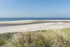 在Maasvlakte鹿特丹的海滩 库存照片