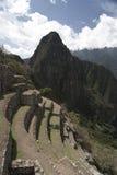 在Machu Picchu的大阳台 库存照片