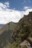在Machu Picchu的大阳台 库存图片