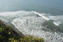在Madeiro海滩的波浪 免版税图库摄影
