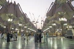 在MADINAH的AL NABAWI 库存图片
