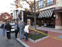 在Maggiano ` s餐馆的炸弹恐慌 库存图片
