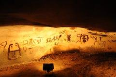 在Magura洞,贝洛格拉奇克,保加利亚的古老图画 库存照片