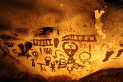 在Magura洞,贝洛格拉奇克,保加利亚的古老图画 免版税库存照片