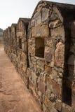 在Mahargarh堡垒的老墙壁 免版税库存图片