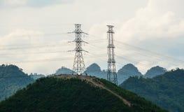 在Mai Chau,越南的山风景 库存图片