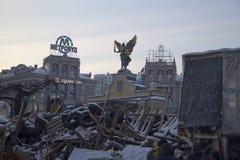 在Maidan的护拦 免版税库存图片