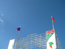 在Maidan的旗子 库存图片