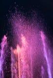 在Maidan Nezalezhnosti的光和音乐喷泉在基辅 库存照片