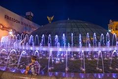 在Maidan Nezalezhnosti的基辅喷泉 免版税图库摄影