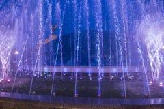 在Maidan Nezalezhnosti的基辅喷泉 免版税库存图片