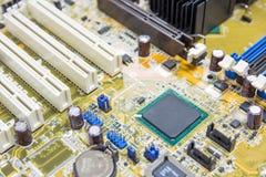在mainboard个人计算机的芯片组 库存图片