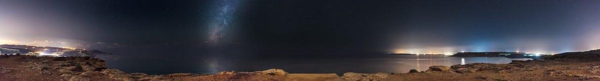 在Majjistral公园的银河 库存照片