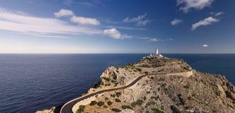 在Majorca的Formentor灯塔 免版税库存图片