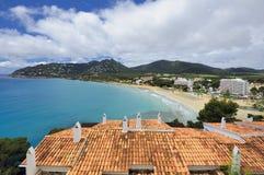 在Majorca的Playa Canyamel 免版税库存照片