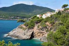 在Majorca的Playa Canyamel 免版税图库摄影