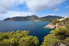 在Majorca的Playa Canyamel 免版税库存图片