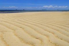 在Makaha& x27的沙滩; 在汤加塔布岛海岛附近的一个海岛在汤加 库存图片