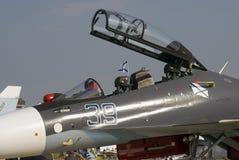 在MAKS国际航空航天沙龙的飞机 免版税库存照片