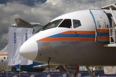 在MAKS国际航空航天沙龙MAKS-2017的苏霍伊超音速喷气飞机100 库存图片