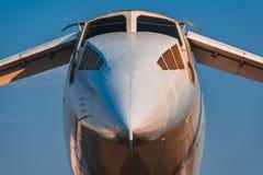 在MAKS 2015年Airshow的图波列夫Tu144 库存图片