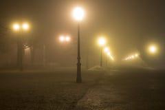 在Maksimir的有雾的场面 免版税库存图片