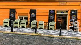 在Mala Strana的咖啡馆 免版税库存照片