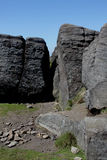 在Mam突岩顶部,高峰区,德贝郡 免版税库存图片