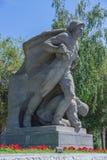 在Mamaev小山的纪念碑在伏尔加格勒 库存图片