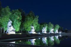 在Mamayev库尔干的纪念碑在伏尔加格勒 库存图片
