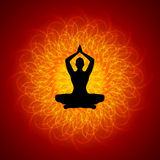 在Manadala的瑜伽 免版税库存图片