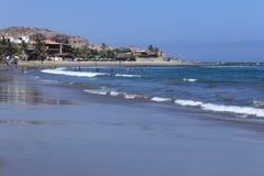 在Mancora,秘鲁的海滩 库存照片